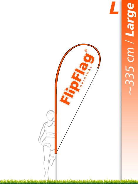 FlipFlag Tropfenform Large