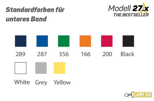 Lany.ch - Doppellagige Lanyards Bandfarben