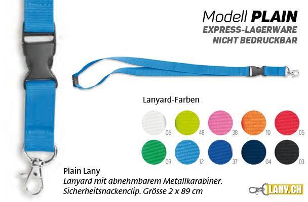 Lany.ch - Lanyard Modell Plain