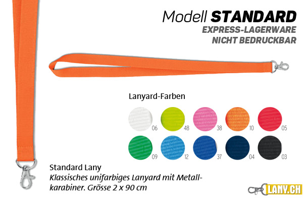 Lany.ch - Lanyard Modell Standard