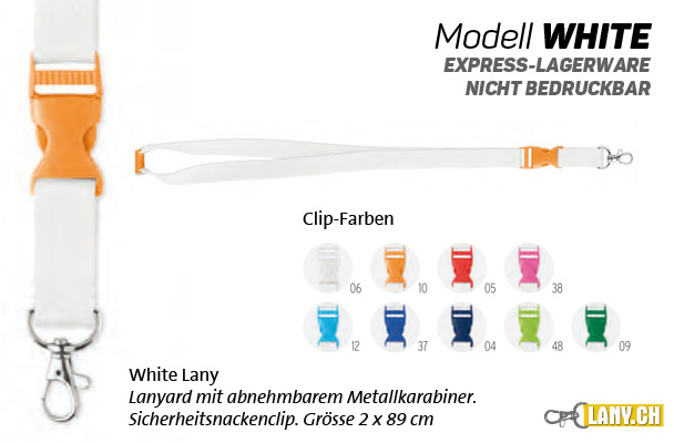 Lany.ch - Lanyard Modell White