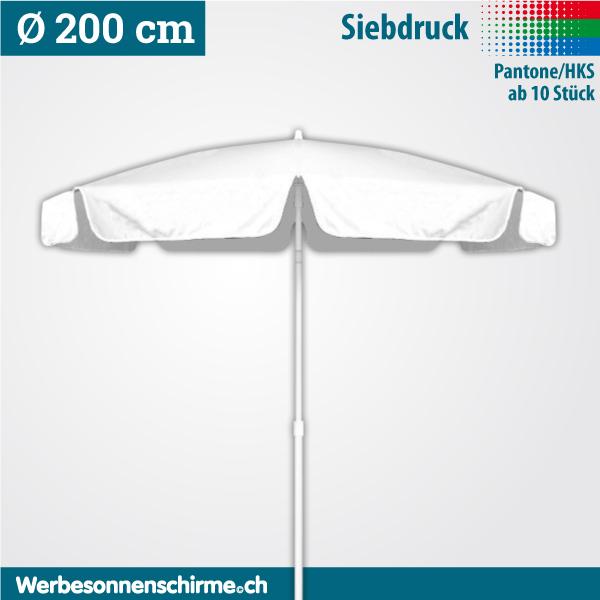 Sonnenschirme bedruckt im Siebdruck 200 cm