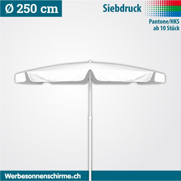 Sonnenschirme bedruckt im Siebdruck 250 cm