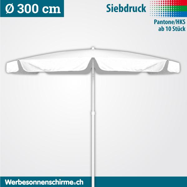 Sonnenschirme bedruckt im Siebdruck 300 cm
